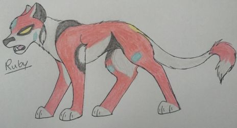 Ruby the Red Lion by WolfLover595