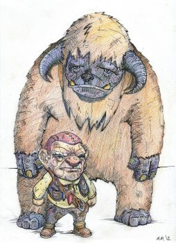 Ludo and Hoggle by GordonMackay