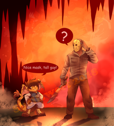 Rhea meets Jason by Shellsweet