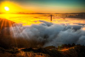 San Francisco, Golden Gate and Sunrise by alierturk