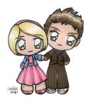Rose and The Doctor by SarahsPlushNStuff