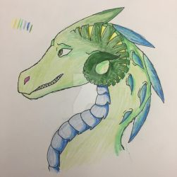 Guilt Dragon by SketchPenWriter