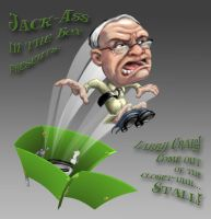 Larry Craig outta the stall by RedBladeStudios