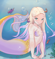 Lilac mermaid by whorin