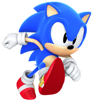 Classic Sonic Running by BlueParadoxYT