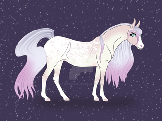 Pink and Purple Appaloosa by A-Land-of-Dreams