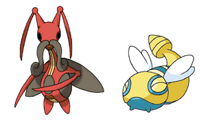 Kricketune and Dunsparce