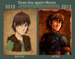 Draw this again - Hiccup by Mistrel-Fox