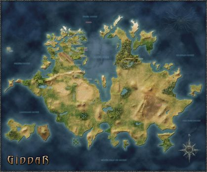 New map of Giddar by blackiron