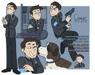 connor doodles by GirlWithTheGreenHat