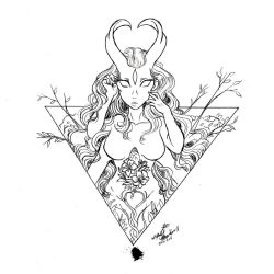Deity line work by Untraceablemystic