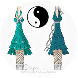 Yin-Yang Dresses: Colored Version by Alyssa921