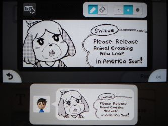 Miiverse - Shizue/Isabelle wants to go to America by MAST3RLINKX