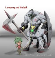 Character Design Commission: Lampong and Balatik by gabogalvez