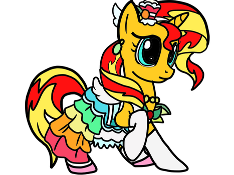 Sunset Shimmer as Cure Parfait by OmegaRiderSangou