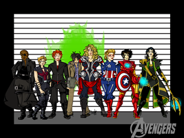 Avengers, Line Up by labrattish