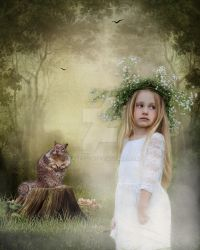 Little Girl And Her Friend by EVAVESTER