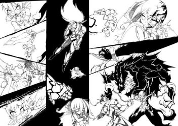 Some sb lineart pages by bleedman