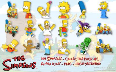 The Simpsons - Icons and PNG - Pack #1 by jonathanrey