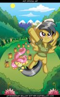 Daring Do and Fluttershy Commission by MaryBellamy