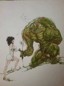 swamp thing and alice .. colored ! :D by Selkirk