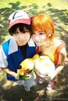 Ash and Misty by Sixteenation