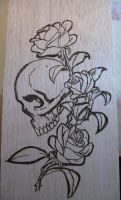 Skull and Roses by bizmiard