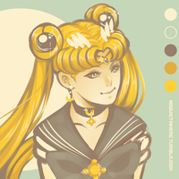 Palette challenge: Sailor Moon by noquietinhere