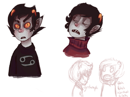 Vantas sketches. by RetroTrickster