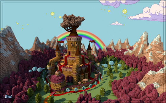 Adventure Time - Candy Kingdom in Minecraft by Notux