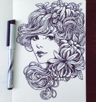 Daily Sketch: Art nouveau inspiration by dimary