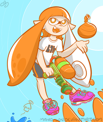 Splatoon: Inkling Girl by Mano-Lon