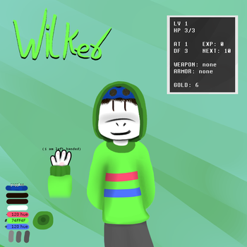 my new undertale oc design by WilkerS1
