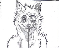 The wolf with two face [ BATIM ] by Aunty-chick
