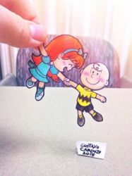 Charlie Brown and Little Red-Haired Girl by GustavoCardozo97