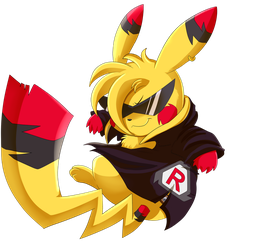 Comm: Rocket Pikachu by pridark