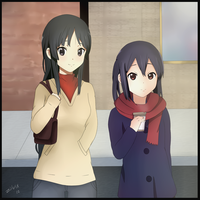 Mio and Azusa by Zilvex