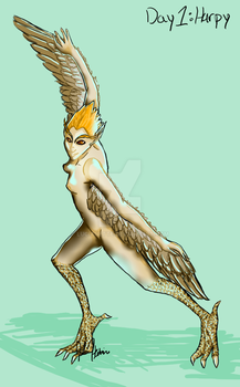Monster Girls Day 1: Harpy by Lucianette