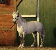 Schleich Hanoverian Stallion repainted by PhoenixRanch
