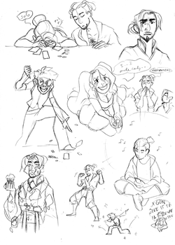 Meet and Greet Sketchdump by hyperionwitch