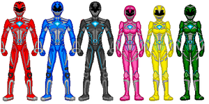 Power Rangers 2017 Zordon's Team by DRY-Designs