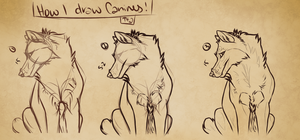 How I Draw Canines Pt 2 by AcrylicFoxCreations