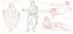 Moar drapes - sketches by LualaDy