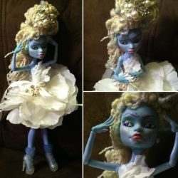 Monster High Custom Abby Bominable by TerribleToadQueen