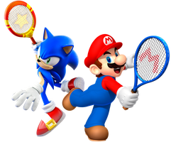 Mario and Sonic: Ultimate Tennis by Legend-tony980