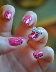 Funky Dice Nail Art by KayleighOC