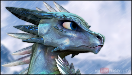 ZBrush - ''Beryl'' Gemstone Dragon Bust by Rebecca1208