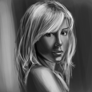 Female Face study 3 by Thomas-Wakely