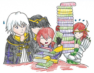 :FA: Flat Tome Stackers by Eureka747