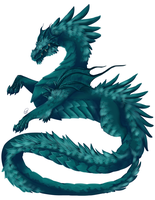 Water Dragon by StormyandRescuer